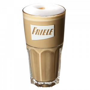 Latteglass med Friele-logo 12x31 cl