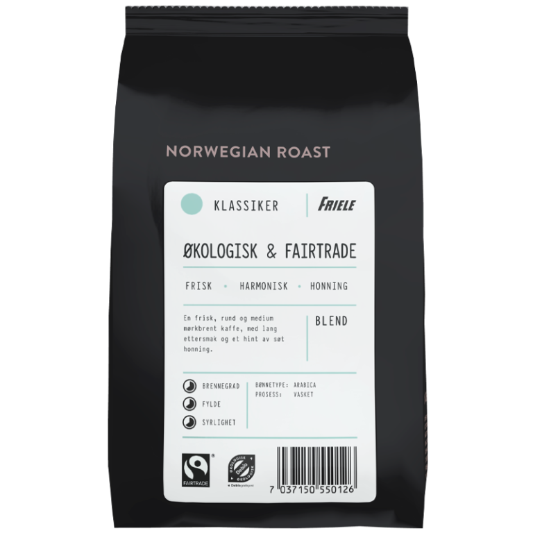1670710 Friele Økologisk Fairtrade Hel 500g