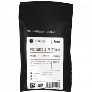 Norwegian Roast Økologisk & Fairtrade Espresso, hel, 12x500g