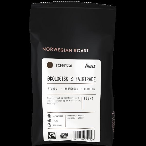 1670711 Friele Økologisk Fairtrade Espresso Hel 500g