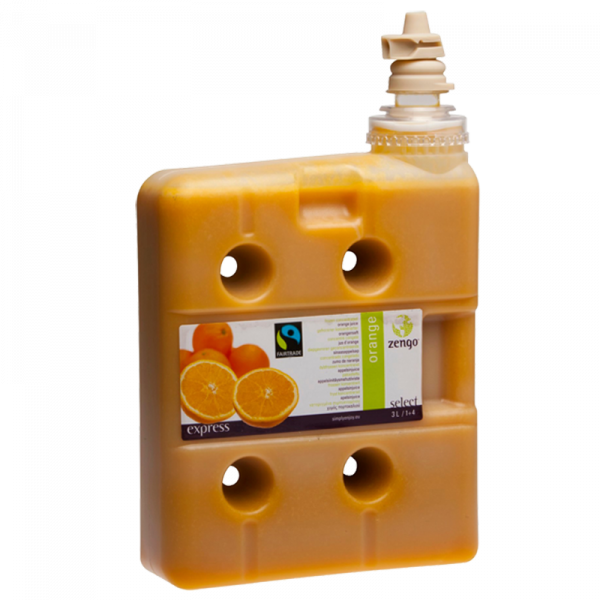 1670821 Zengo Fairtrade Appelsinjuice 4x3L