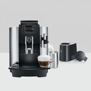 JURA WE8 - Kvalitetsmaskin med melkesteamer