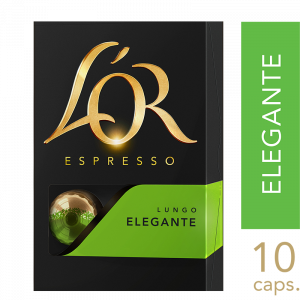 L'or Elegante kaffekapsler 10x10 stk
